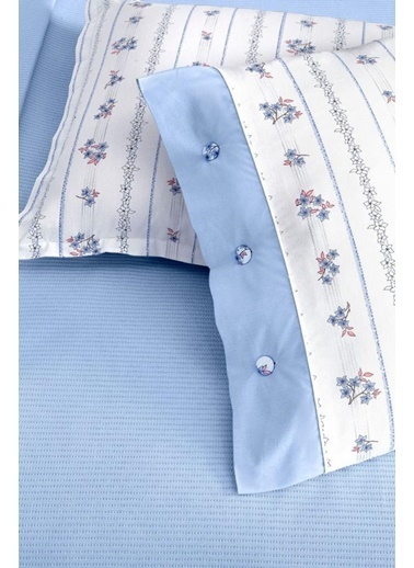 Sarev Sarev Gloria Tek Kişilik Pamuk Pike Takımı V3 Mavi Renkli